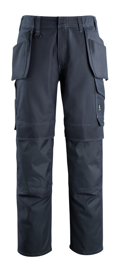 MASCOT® Springfield - dark navy - Trousers with kneepad pockets and holster pockets, lightweight