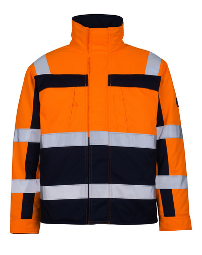 MASCOT® Timon - hi-vis orange/navy* - Pilot Jacket with quilted lining, class 3
