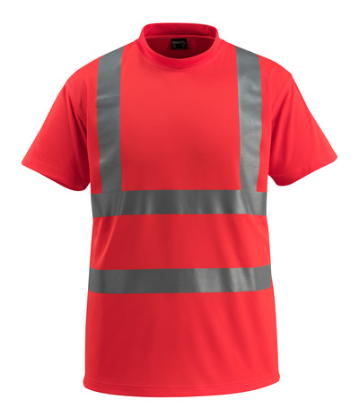 MASCOT® Townsville - hi-vis red - T-shirt, classic fit, class 2