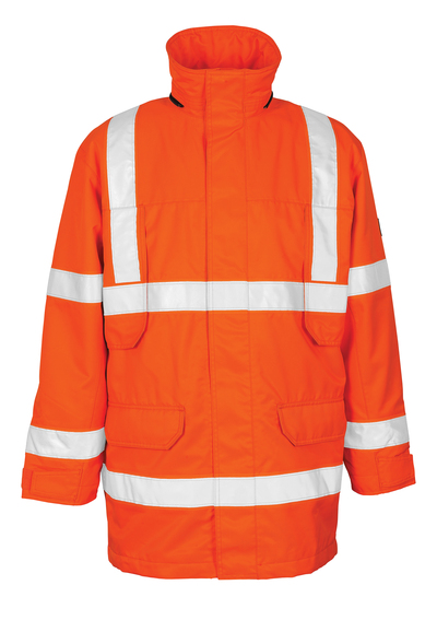 MASCOT® Vancouver - hi-vis orange - Parka with detachable quilted lining, waterproof MASCOTEX®, class 3
