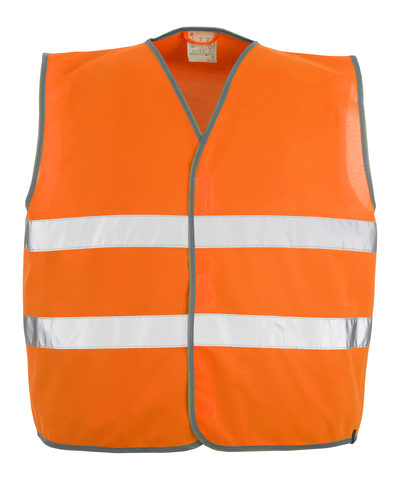 MASCOT® Weyburn - hi-vis orange - Traffic Vest with hook and loop fastening, class 2