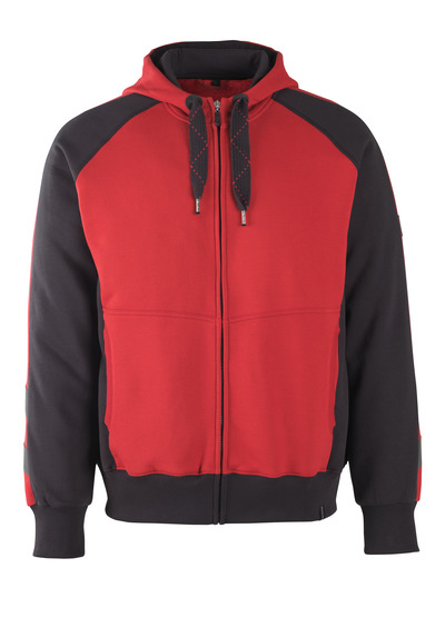 MASCOT® Wiesbaden - red/black* - Hoodie with zipper