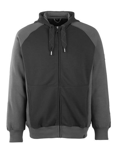 MASCOT® Wiesbaden - black/dark anthracite - Hoodie with zipper, modern fit