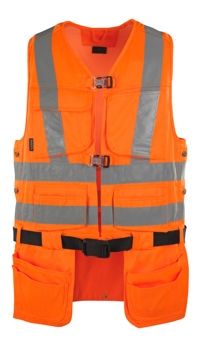 MASCOT® Yorkton - hi-vis orange - Tool Vest with four holster pockets, class 2/2